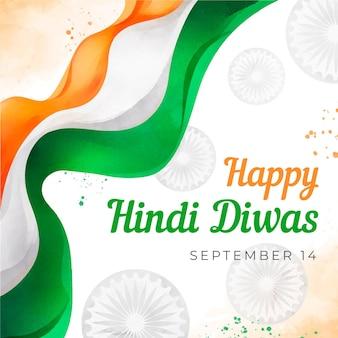 Koncepcja wydarzenia dnia hindi