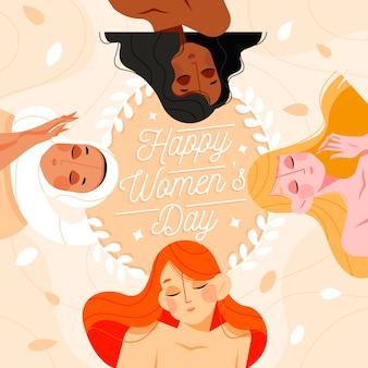 Koncepcja wydarzenia dzień kobiet płaska konstrukcja