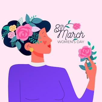 Koncepcja wydarzenia kwiatowy dzień kobiet