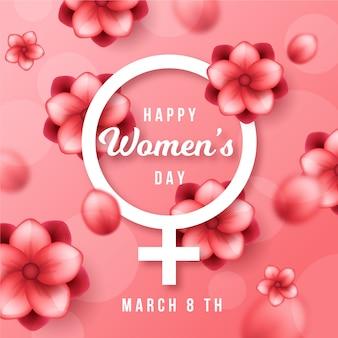 Koncepcja wydarzenia realistyczne dzień kobiet