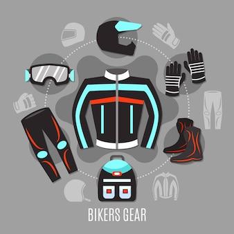 Koncepcja wyposażenia motocyklowego
