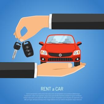 Koncepcja wypożyczalni samochodów