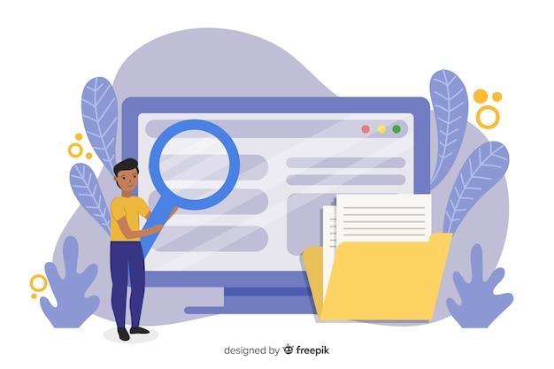 Koncepcja wyszukiwania plików dla strony docelowej