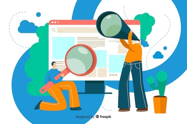 Koncepcja wyszukiwania strony docelowej