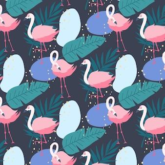 Koncepcja wzór flamingo