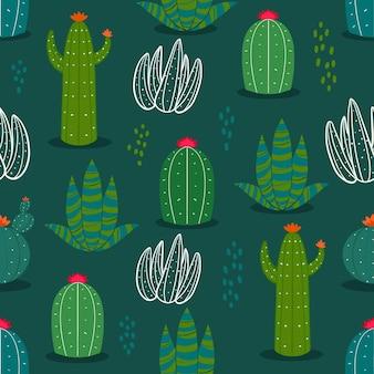 Koncepcja wzór kaktusa