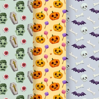 Koncepcja wzorów akwarela halloween