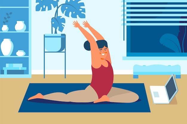 Koncepcja zajęć jogi online