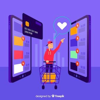 Koncepcja zakupów online dla strony docelowej