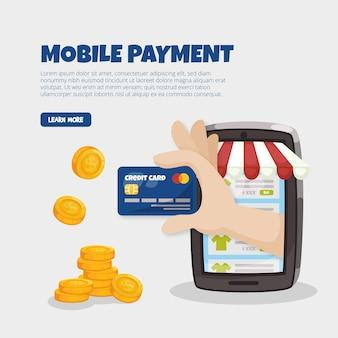 Koncepcja zakupów online płatności mobilnych