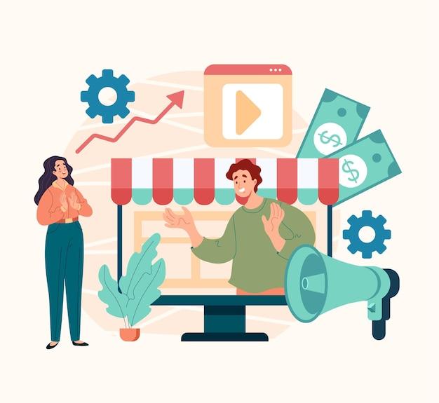 Koncepcja zakupów online w internecie w internecie