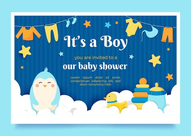 Koncepcja zaproszenia baby shower
