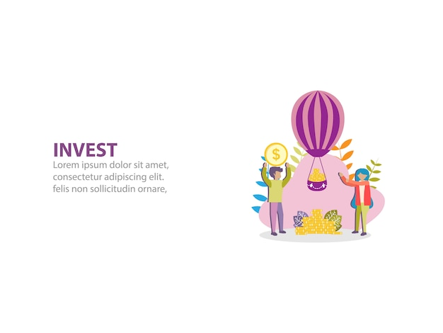 Koncepcja zdobycia dużo pieniędzy w tle dla web pager