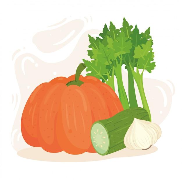Koncepcja zdrowej żywności, świeże i zdrowe warzywa