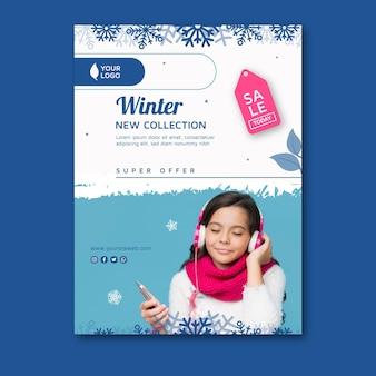 Koncepcja zimowego plakatu a4