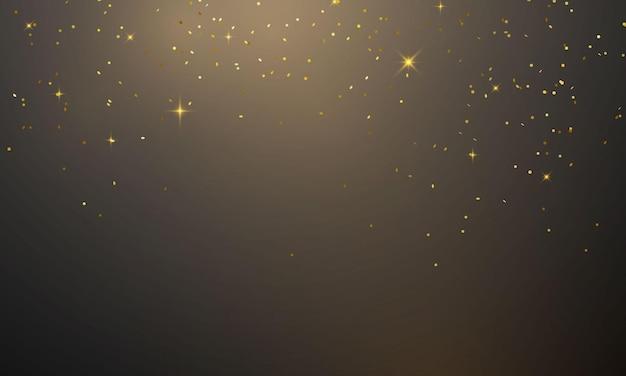 Koncepcja złotego konfetti