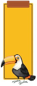 Koncepcja znak książki toucan