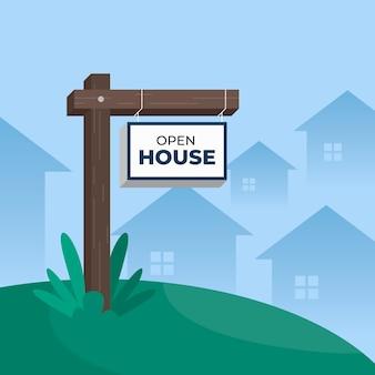 Koncepcja znaku otwartego domu