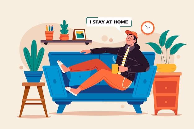 Koncepcja zostań w domu