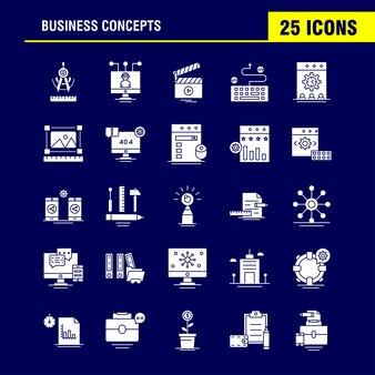 Koncepcje biznesowe ikona stałego glifu