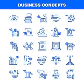 Koncepcje biznesowe linia ikona
