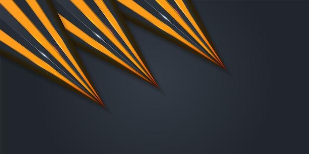 Koncepcje projektowe abstrakcyjne tło 3d z żółtymi warstwami papieru