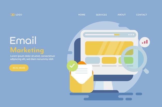 Koncepcyjna ilustracja marketingu e-mailowego