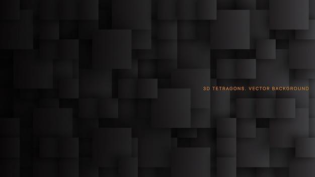 Koncepcyjne inny rozmiar kwadratów czarne tło