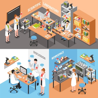 Konceptualna kompozycja naukowa laboratorium