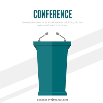 Konferencja na podium