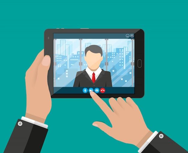Konferencja online. spotkanie internetowe, rozmowa wideo