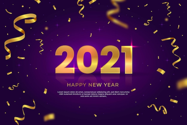 Konfetti nowy rok 2021 tło