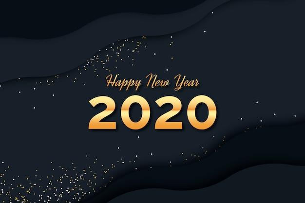 Konfetti tło nowego roku 2020