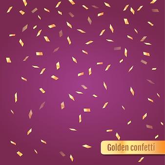 Konfetti złote tło