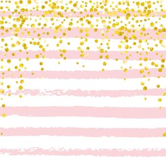 Konfetti złoty brokat w kropki