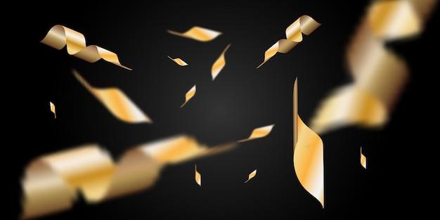 Konfetti złoty na białym tle