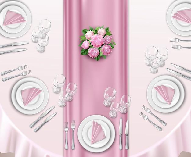 Konfiguracja stołu weselnego