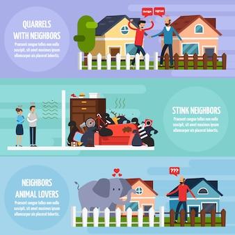 Konflikty z sąsiadami zestaw banerów