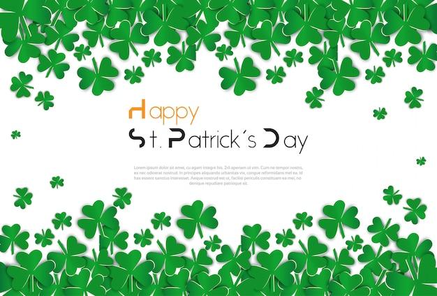 Koniczyna opuszcza tło dla saint patircks day concept irlandzki shamrock