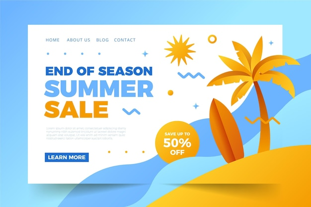 Koniec strony docelowej sprzedaży letniej