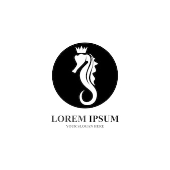 Konik morski logo i symbol wektory ikon
