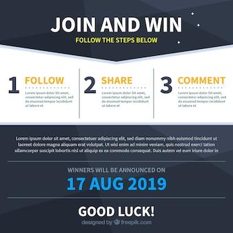 Konkursy w mediach społecznościowych z płaskimi projektami
