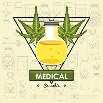 Konopie medyczne koncepcja