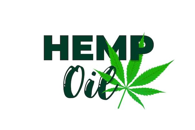 Konopny olej konopny medyczna marihuana symbol ekstrakt z liści marihuany szablon projektu znaku naturalnego produktu