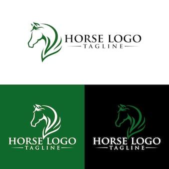 Koński loga szablonu zapasu wizerunek