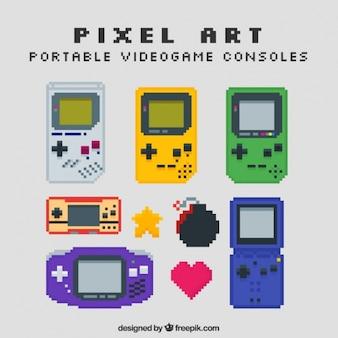 Konsole w stylu pixel