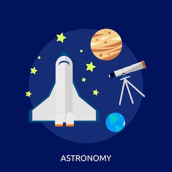 Konstrukcja astronomia tle