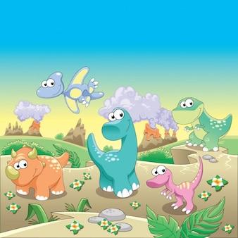 Konstrukcja dinozaury tle