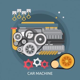 Konstrukcja maszyny tle samochodu