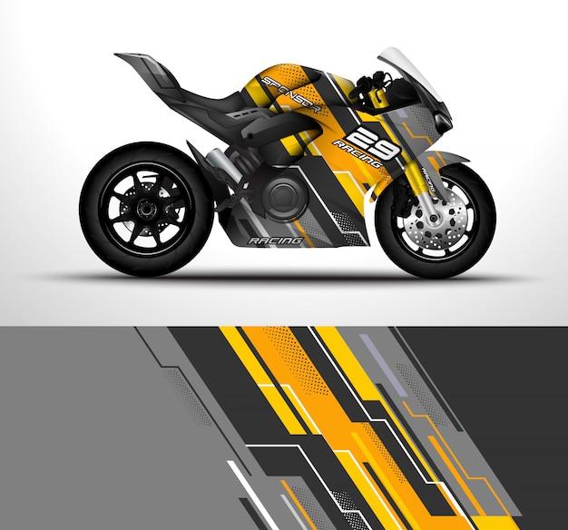 Konstrukcja owinięcia motocykla